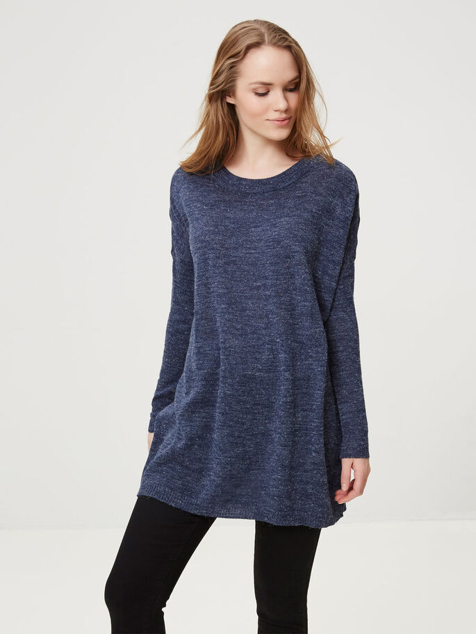 LOOSE FIT KNITTED TOP, Black Iris, large