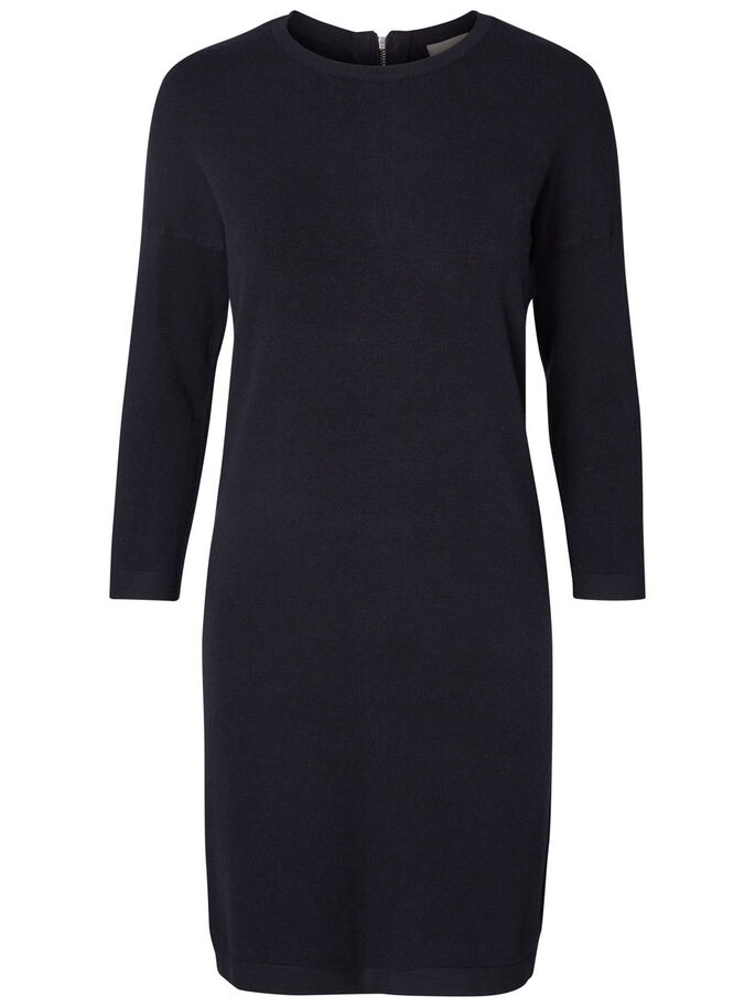 3/4 SLEEVED DRESS, Black Beauty, large