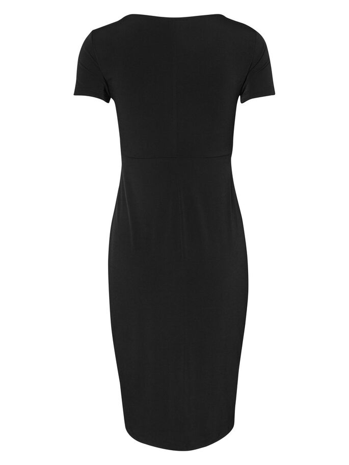 KURZÄRMELIGES KLEID, Black, large
