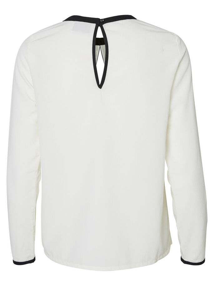 FEMININE LONG SLEEVED TOP, Pristine, large