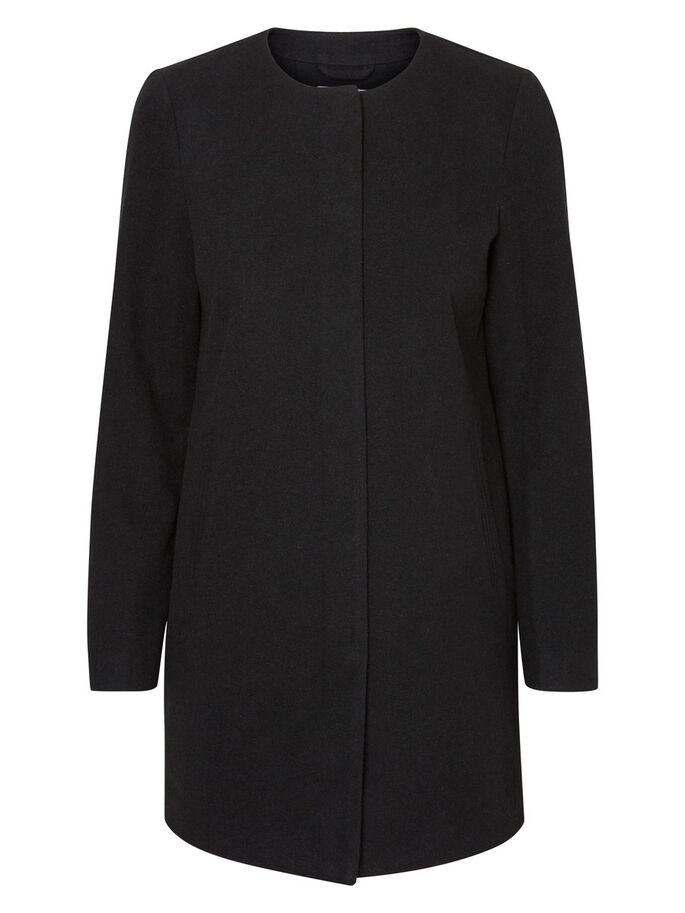 FEMININE COAT, Black, large