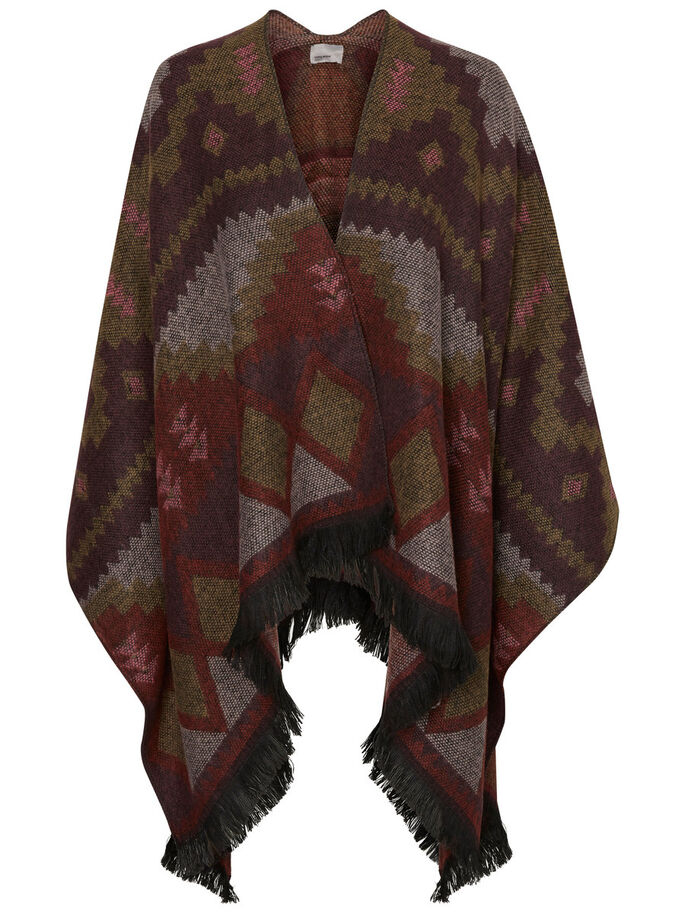STICKAD PONCHO, Decadent Chocolate, large