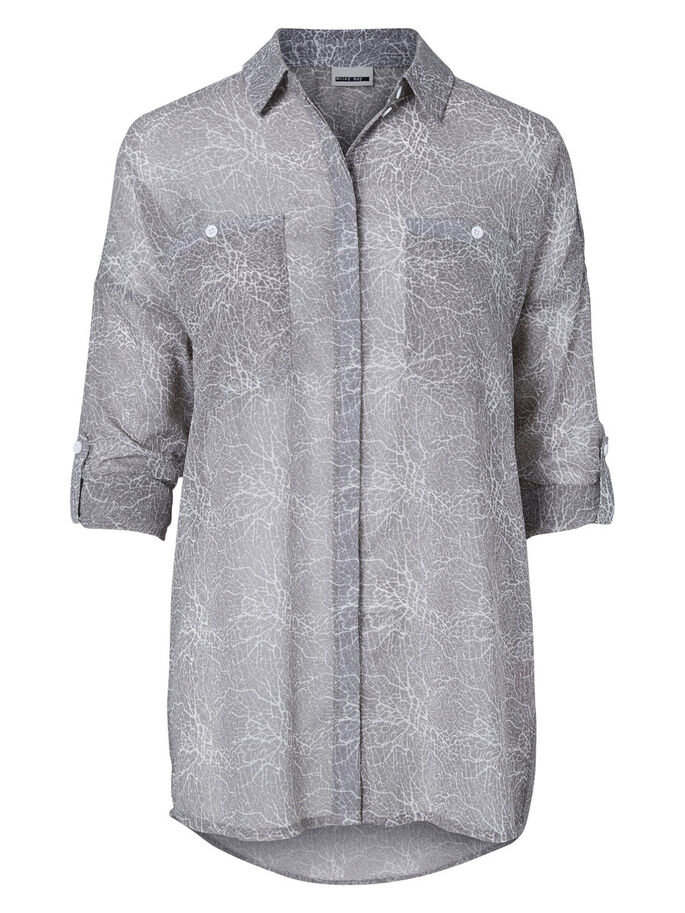 LOOSE FIT SHIRT, Frost Gray, large