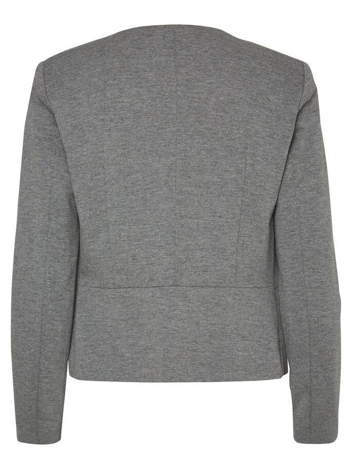 KURZER BLAZER, Medium Grey Melange, large