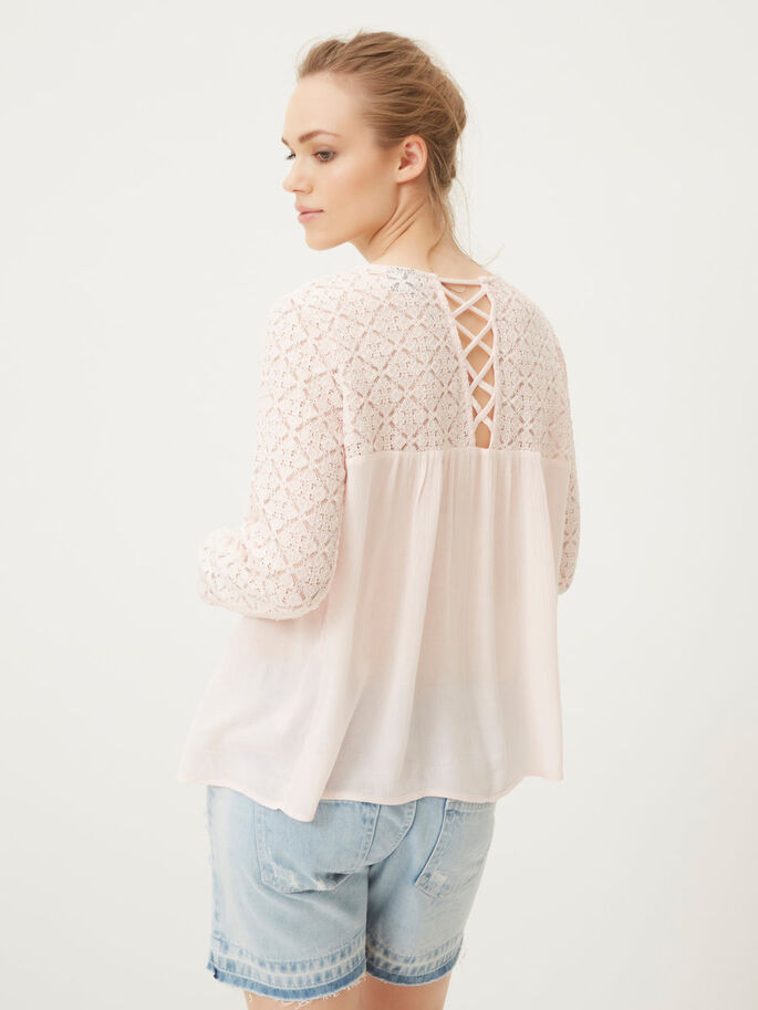 FEMININE LONG SLEEVED BLOUSE, Pearl, large