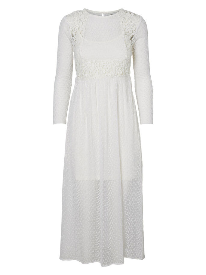LACED MAXI DRESS, Snow White, large