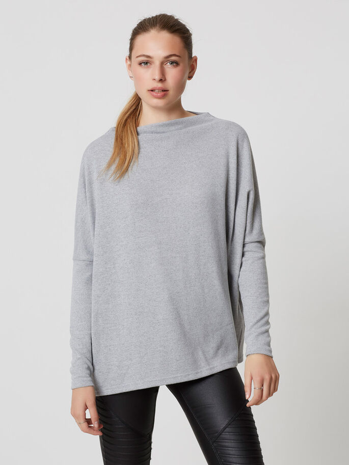 LANGÄRMELIGE PULLOVER, Light Grey Melange, large