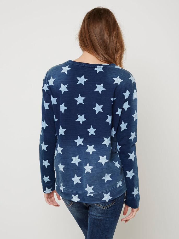 LANGÄRMELIGES SWEATSHIRT, Blue Indigo, large