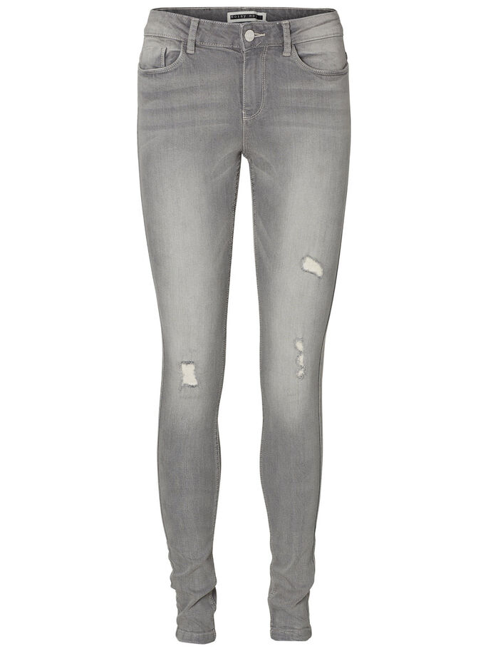 LUCY NW SKINNY JEANS, Light Grey Denim, large