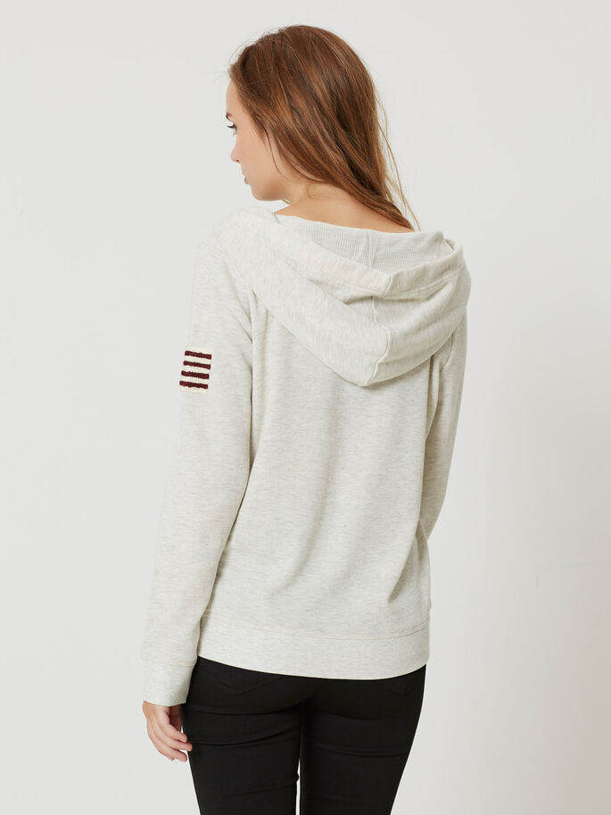MANCHES LONGUES SWEAT-SHIRT, Oatmeal, large