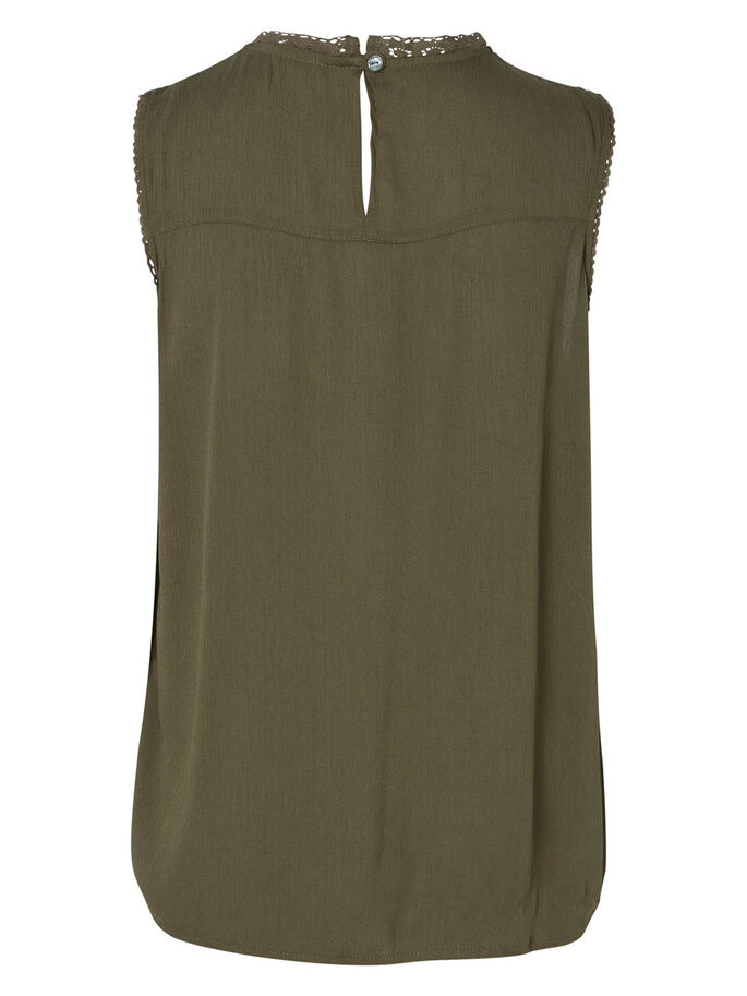 KANTEN MOUWLOZE TOP, Ivy Green, large