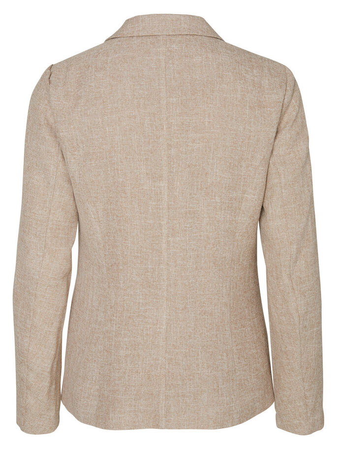 LONG SLEEVED BLAZER, Oatmeal, large