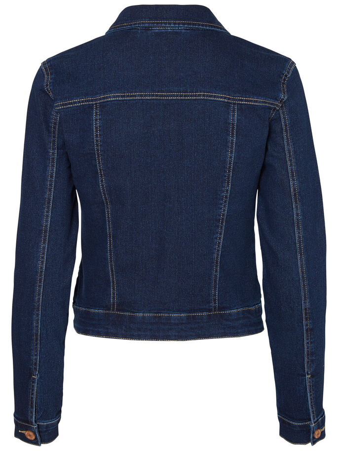 KLASSISCHE JEANSJACKE, Dark Blue Denim, large