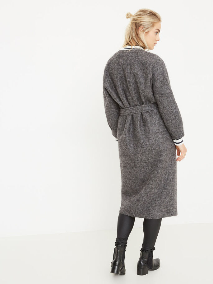 LAINE LONG MANTEAU, Medium Grey Melange, large
