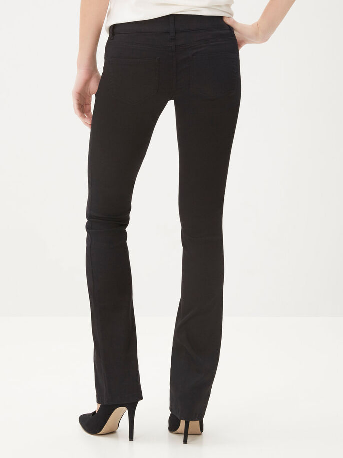 DINA LW FLARED JEANS, Black, large