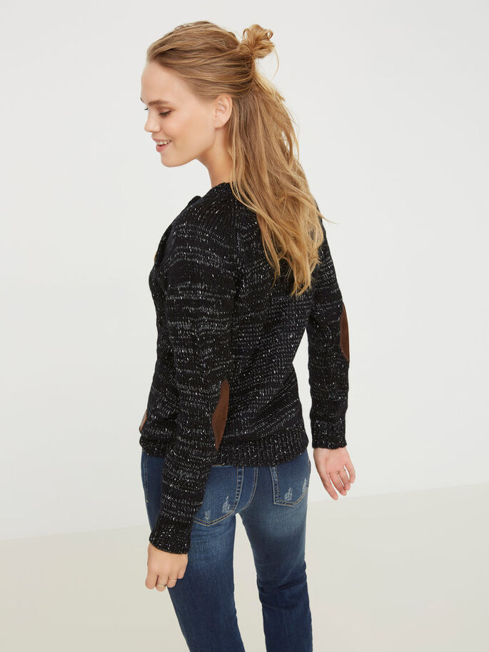 KNITTED PULLOVER, Black, large