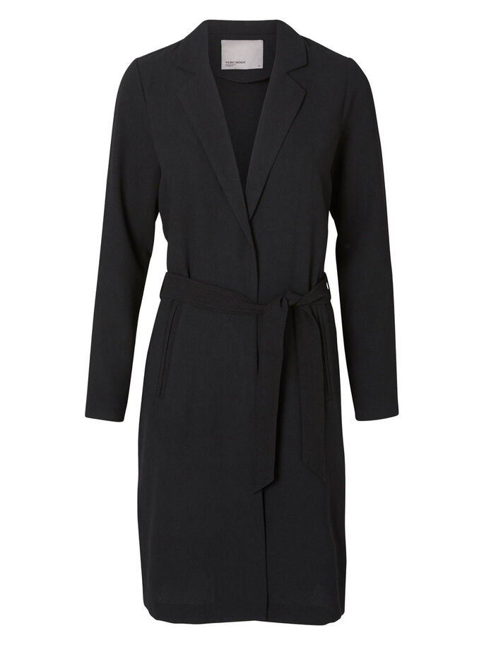 LANGÆRMET TRENCHCOAT, Black, large