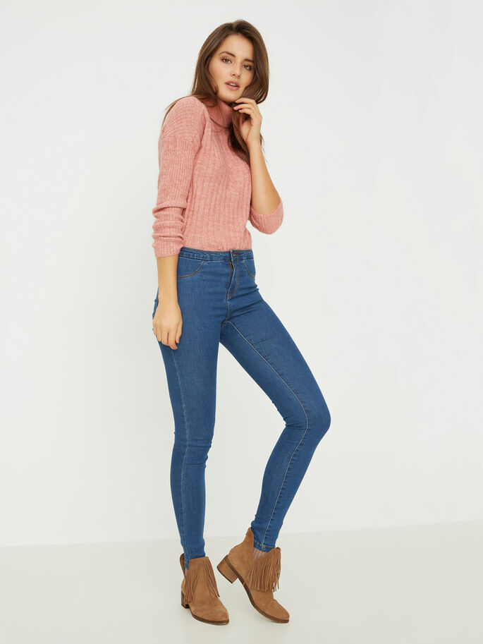 NW SKINNY FIT JEGGINGS, Medium Blue Denim, large