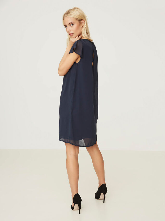 SHORT SLEEVED DRESS, Total Eclipse, large