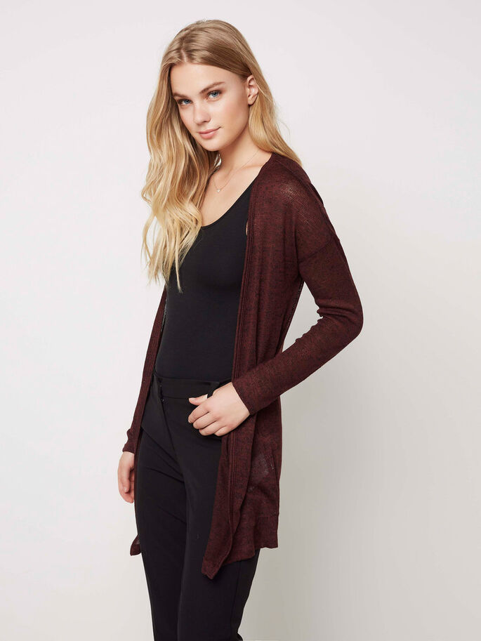 LONG CARDIGAN, Decadent Chocolate, large