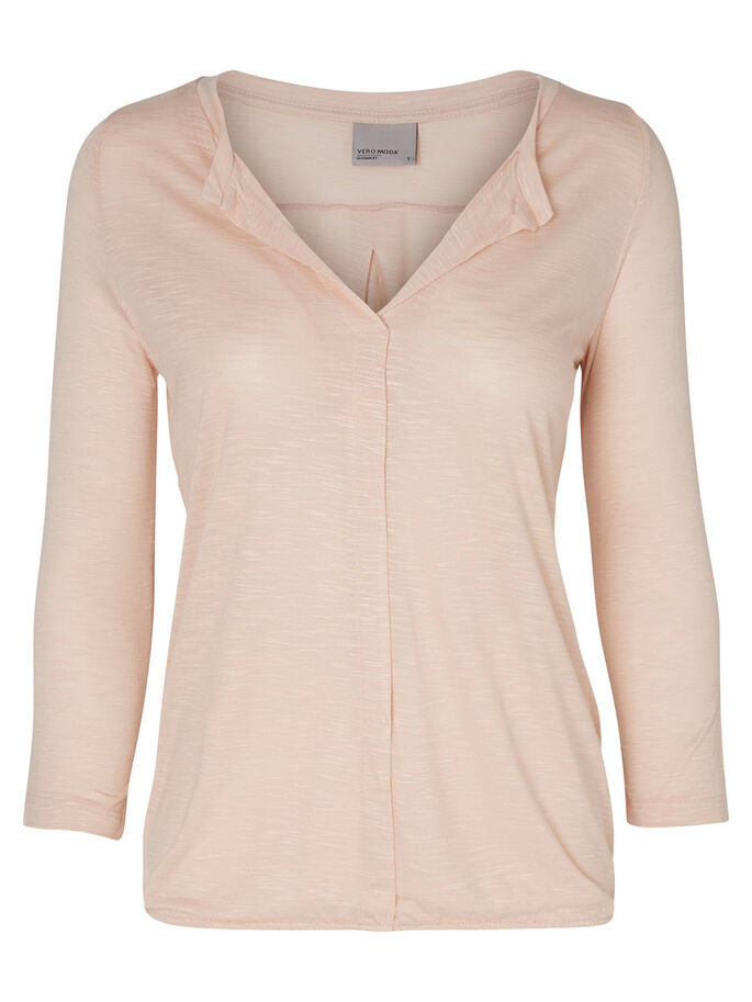 CASUAL LONG SLEEVED TOP, Rose Dust, large