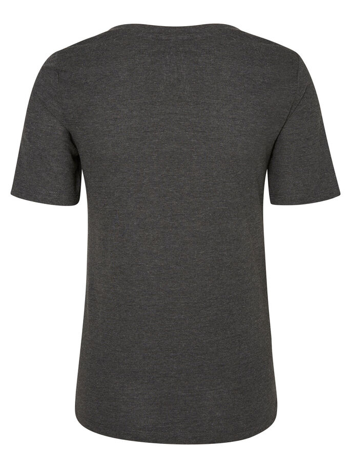 BEDRUCKTES T-SHIRT, Dark Grey Melange, large