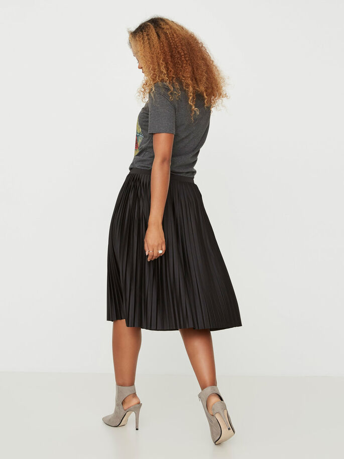 PLEATED SKIRT, Black, large