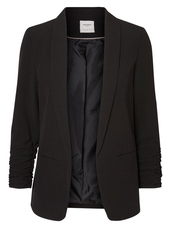 LONG SLEEVED BLAZER, Black, large