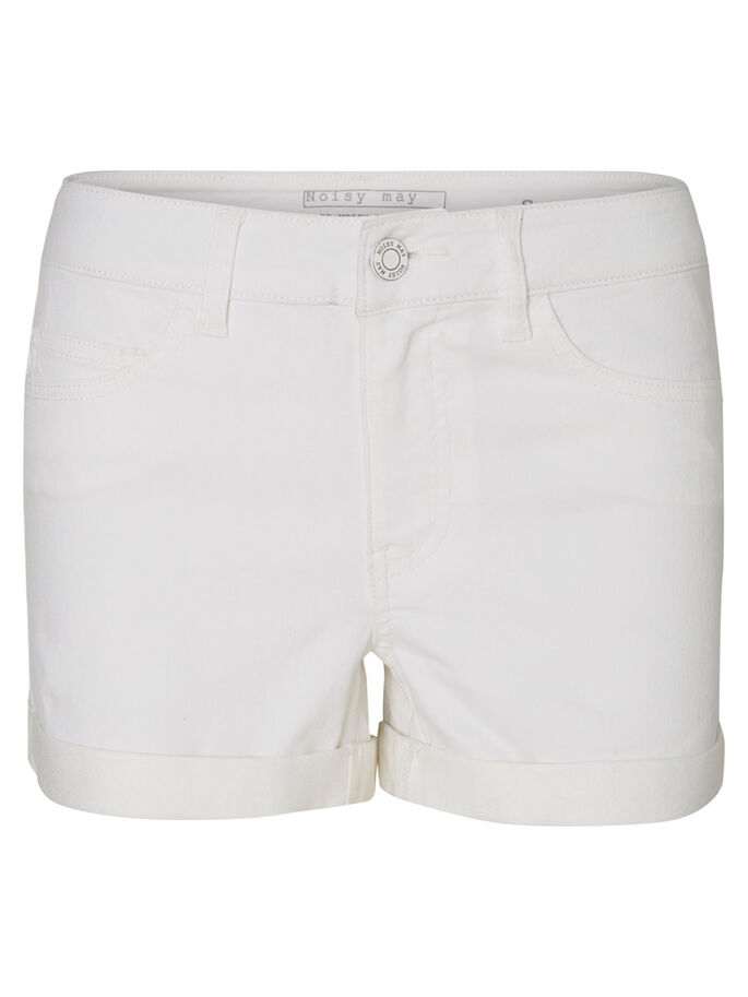 DENIM SHORTS, Bright White, large
