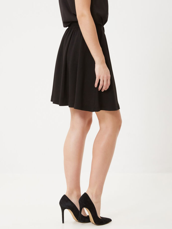 SKATER SKIRT, Black, large