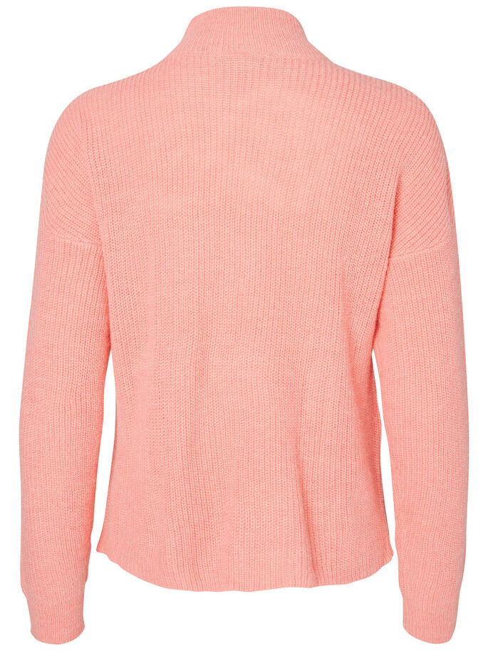 MAILLE PULLOVER, Salmon Rose, large