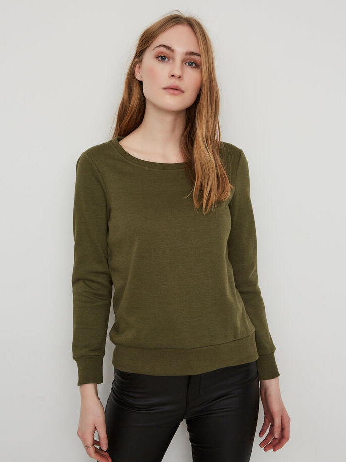 CASUAL SWEATSHIRT, Ivy Green, large