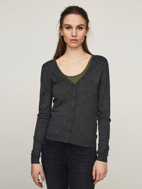 PLAIN V-NECK CARDIGAN