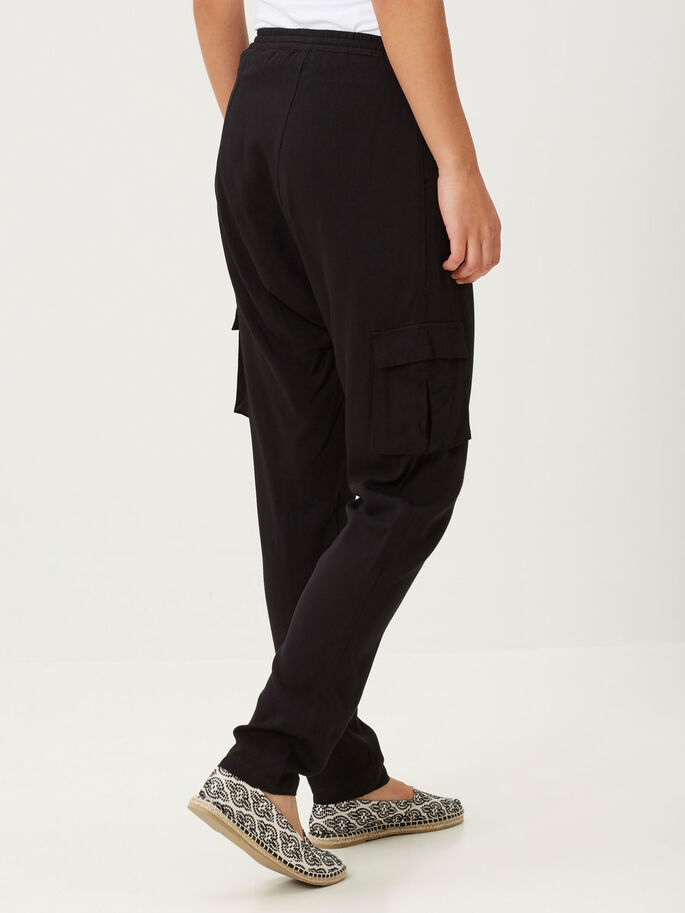 LOOSE FIT BYXOR, Black, large