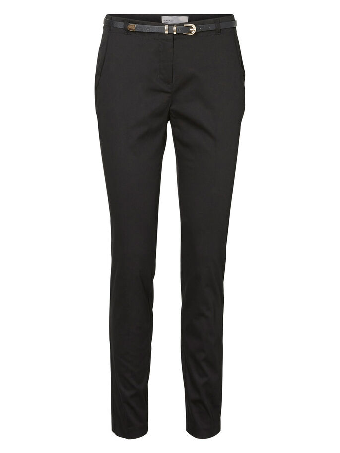 SLIM FIT BROEK, Black, large