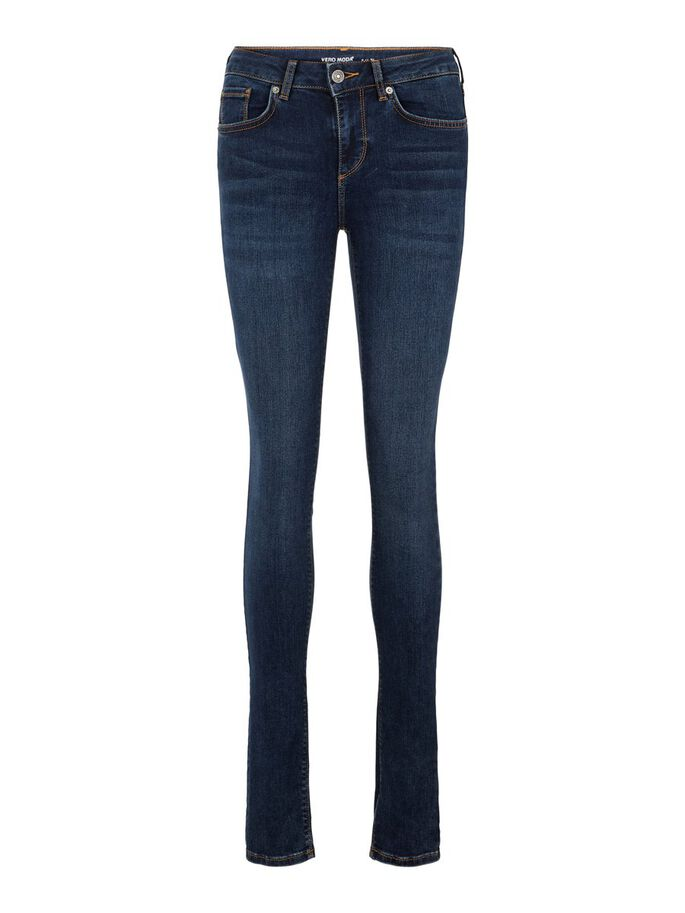 LUX NW SKINNY JEANS, Dark Blue Denim, large