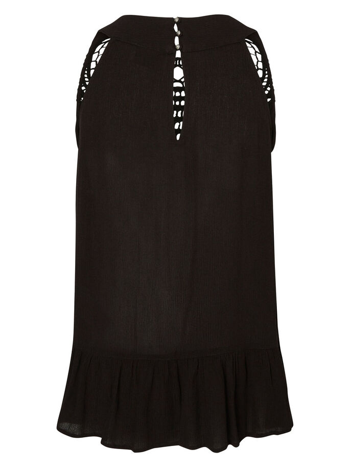 CROCHET SLEEVELESS TOP, Black, large