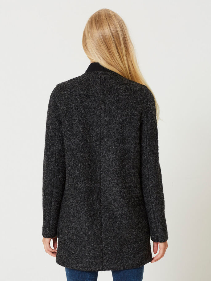 WOOL JACKET, Dark Grey Melange, large
