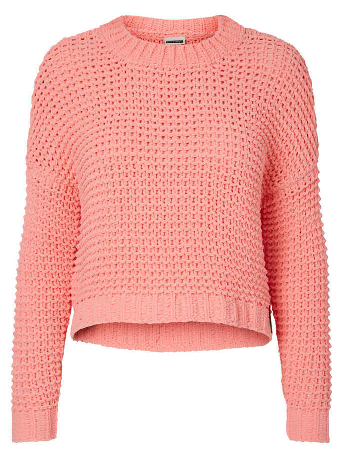 KNITTED PULLOVER, Salmon Rose, large