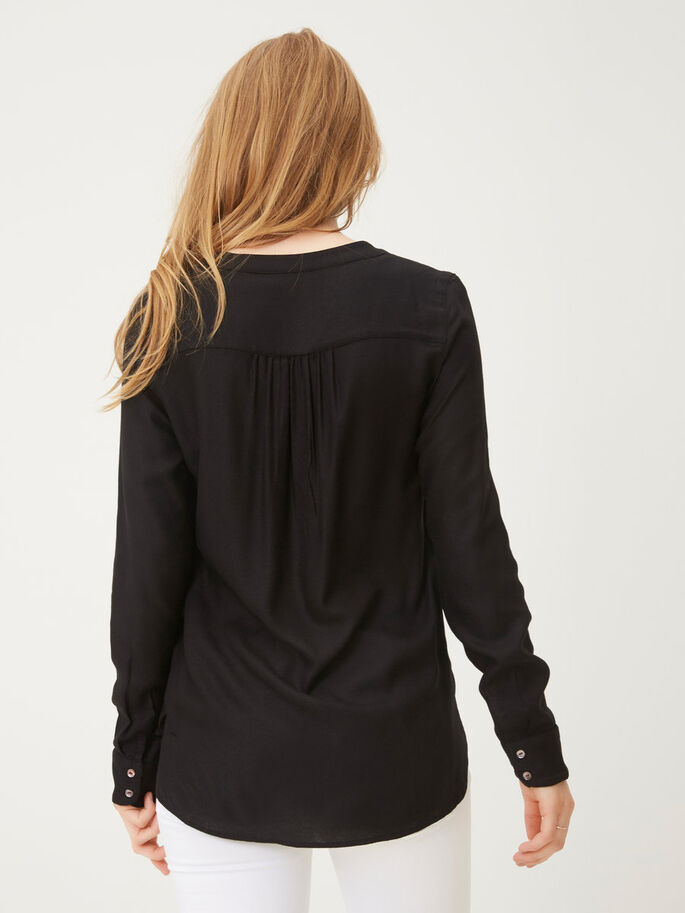 LOOSE FIT LONG SLEEVED SHIRT, Black, large