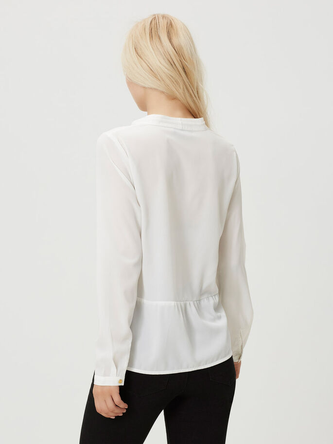 CASUAL LONG SLEEVED BLOUSE, Snow White, large
