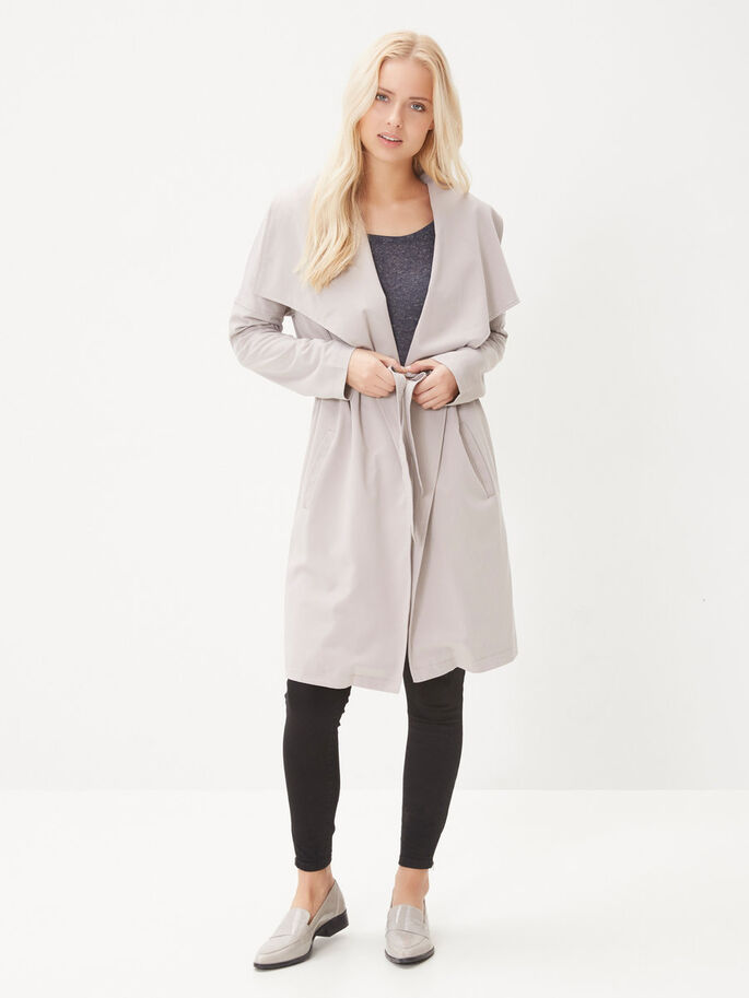 LÅNG TRENCHCOAT, Ash, large