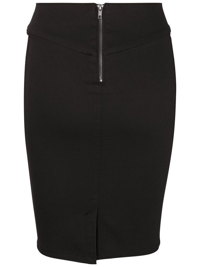 HIGH WAIST BLYANTSKJØRT, Black, large