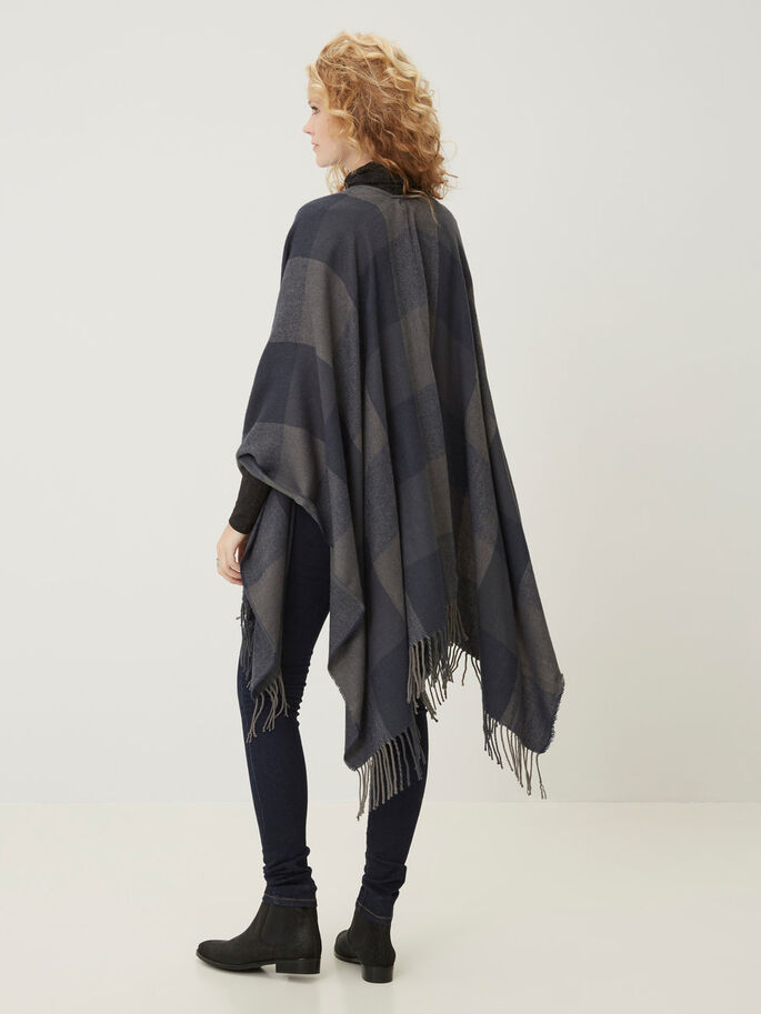 GESTRICKTER PONCHO, Total Eclipse, large
