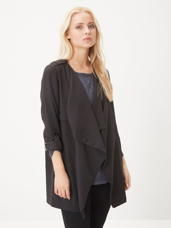 LOOSE FIT JAKKE, Black, large
