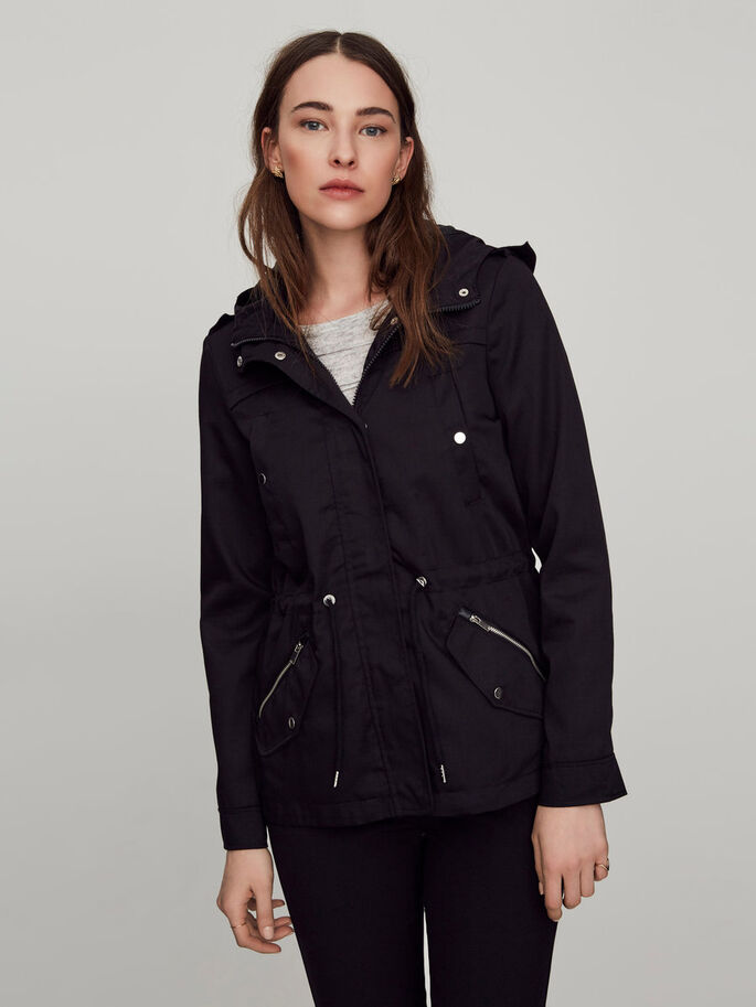 SHORT TRANSITIONAL JACKET, Black, large
