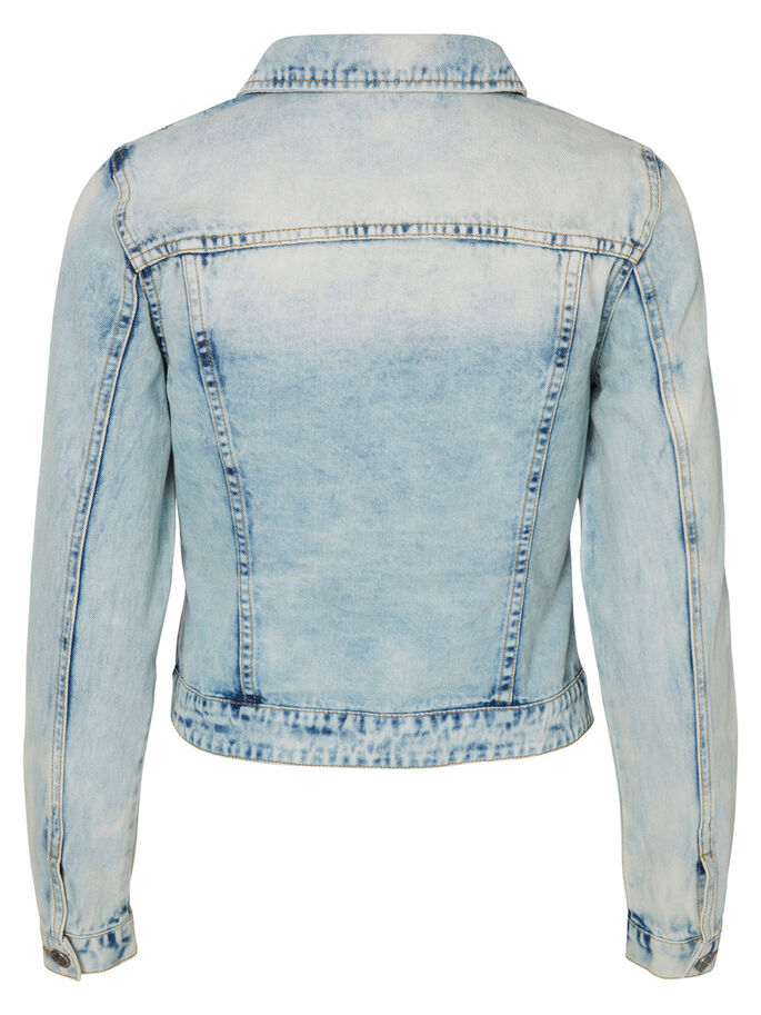 KORT DENIMJAKKE, Light Blue Denim, large