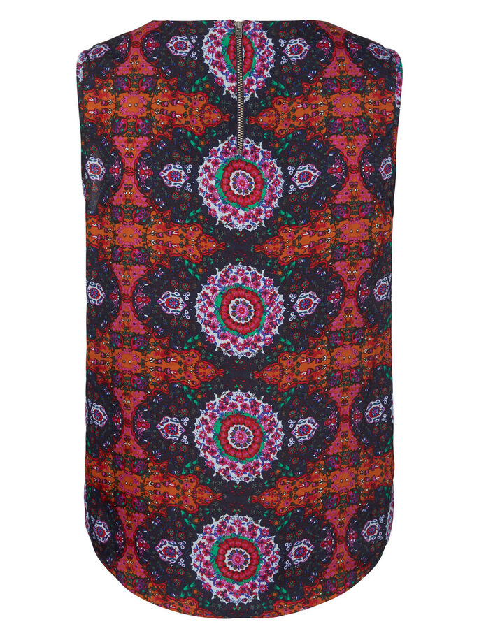 PRINTED SLEEVELESS TOP, Adobe, large