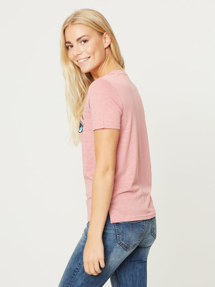 KORTE MOUW T-SHIRT, Dusty Rose, large
