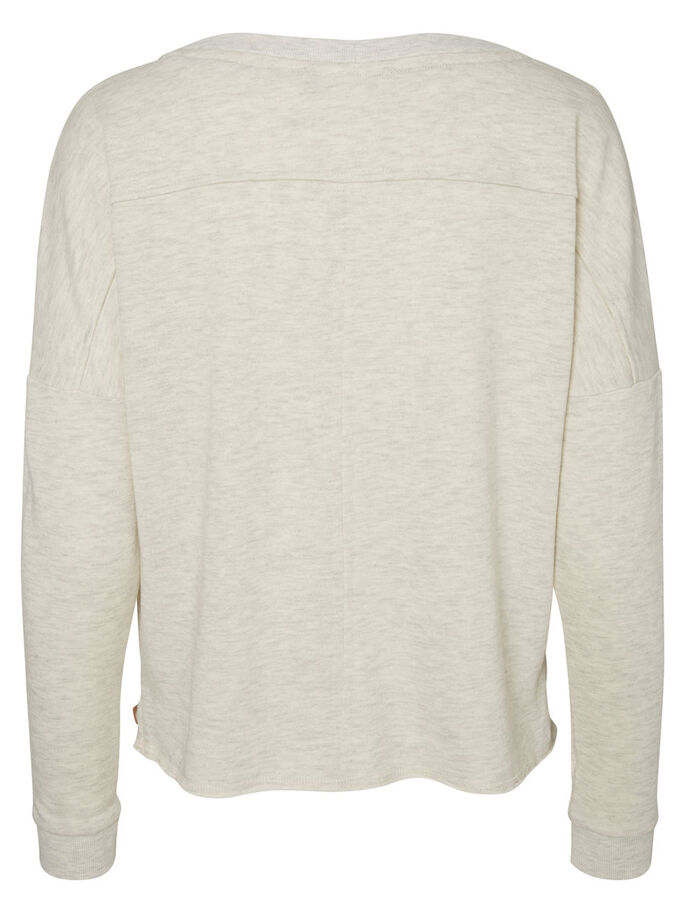 LONG SLEEVED SWEATSHIRT, Oatmeal, large